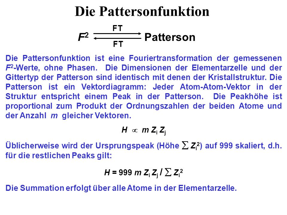 Die Pattersonfunktion