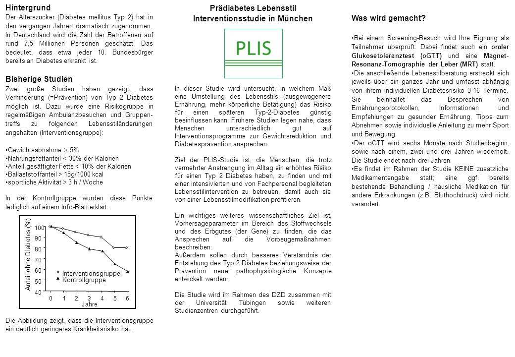 Prädiabetes Lebensstil Interventionsstudie in München