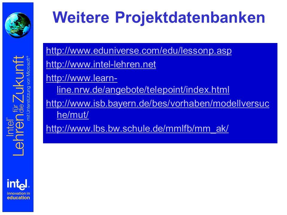 Weitere Projektdatenbanken