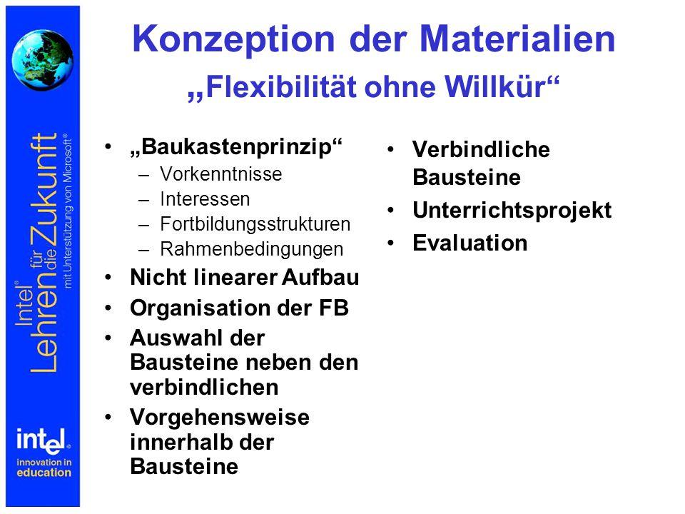 """Konzeption der Materialien """"Flexibilität ohne Willkür"""