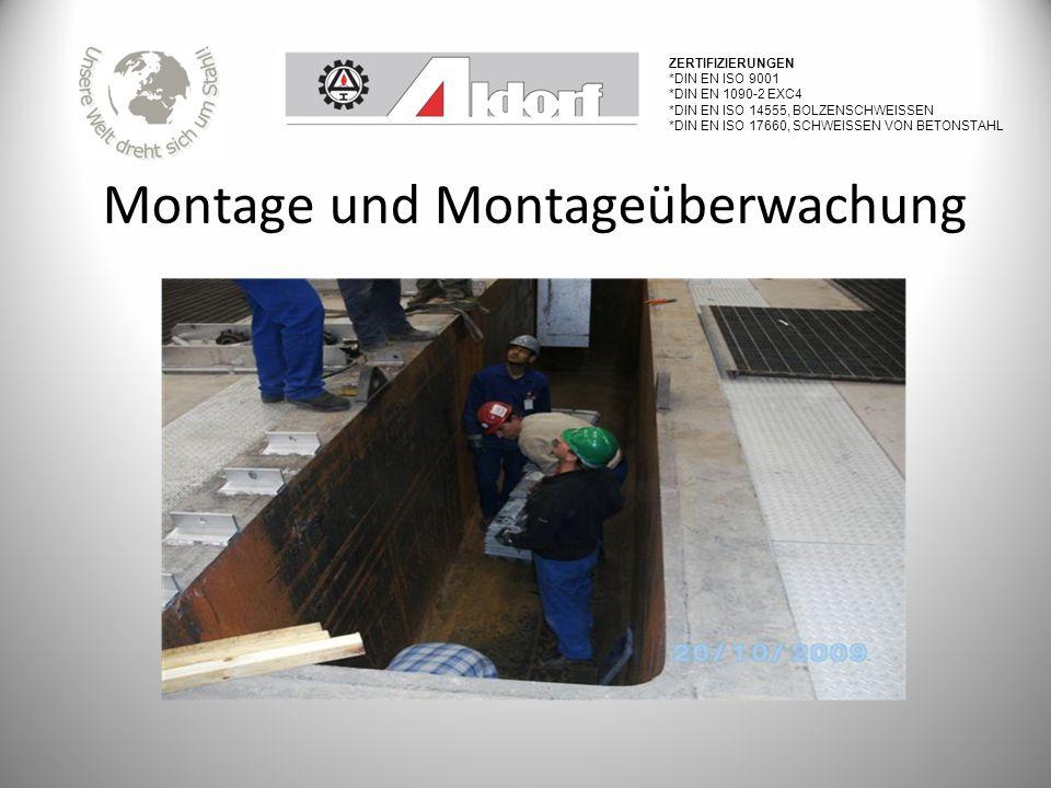 Montage und Montageüberwachung