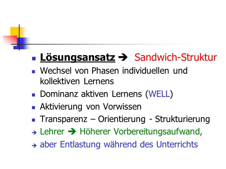 Lösungsansatz  Sandwich-Struktur