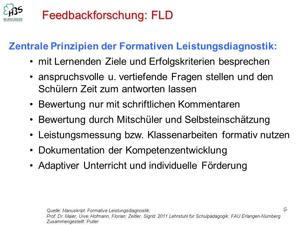 Feedbackforschung: FLD