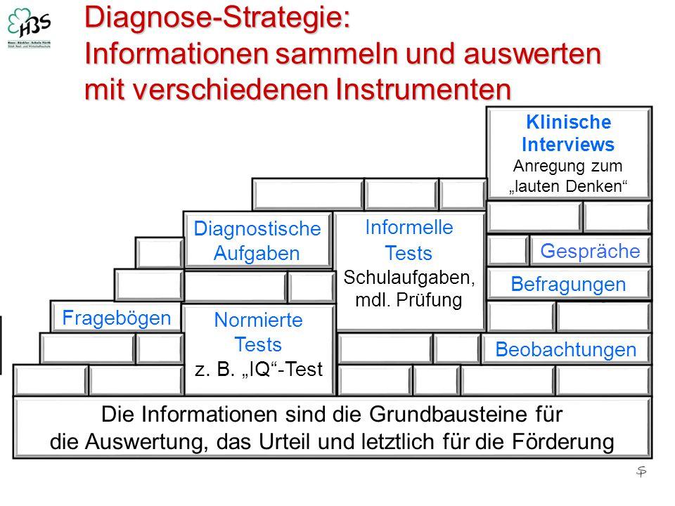 Diagnose-Strategie: Informationen sammeln und auswerten mit verschiedenen Instrumenten
