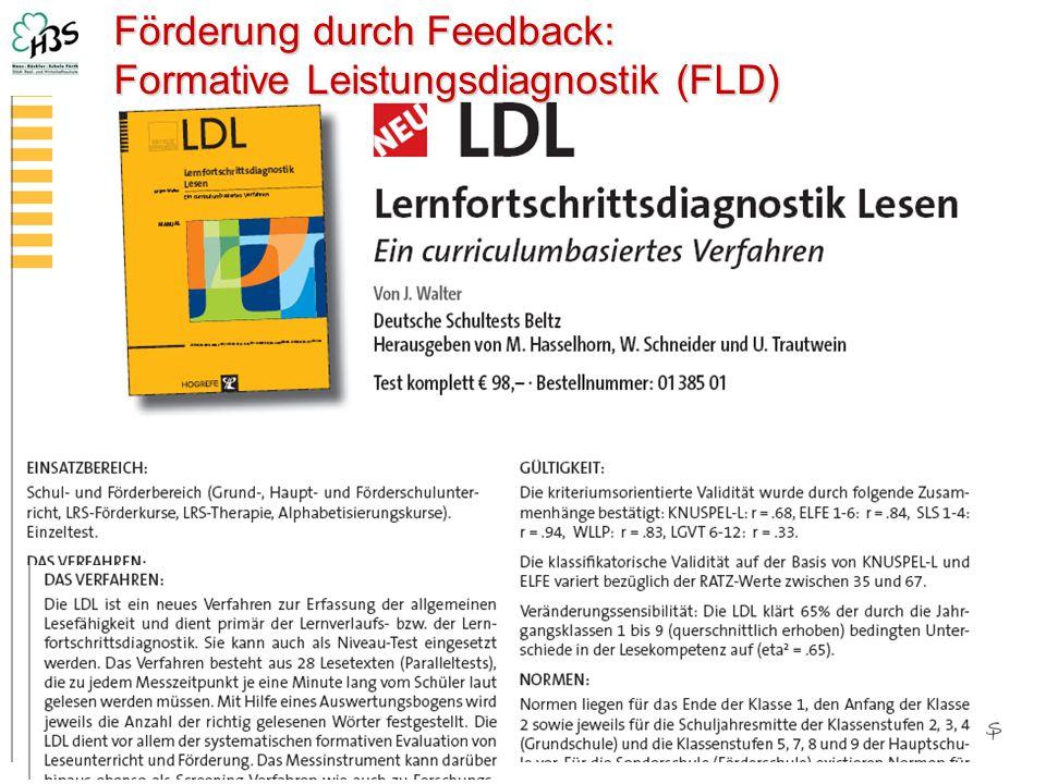 Förderung durch Feedback: Formative Leistungsdiagnostik (FLD)