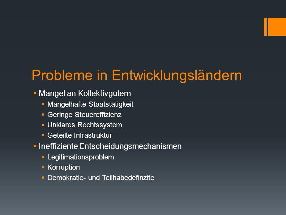 Probleme in Entwicklungsländern