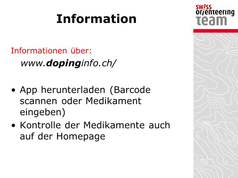 Information www.dopinginfo.ch/
