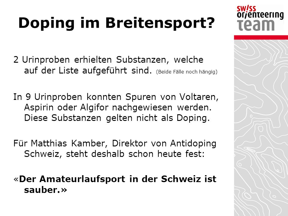 Doping im Breitensport