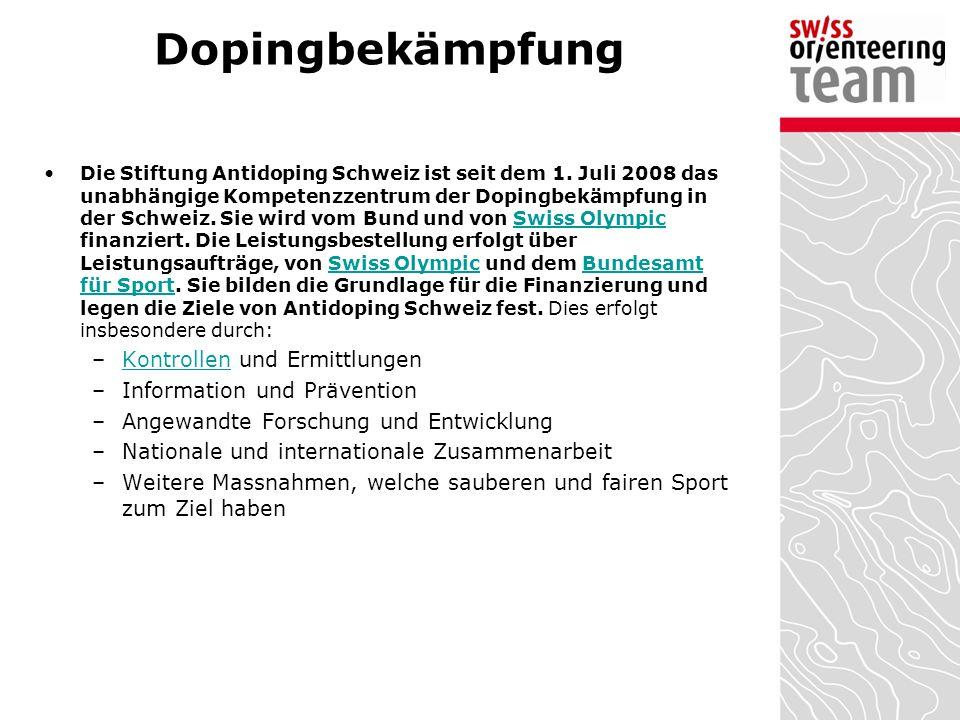 Dopingbekämpfung Kontrollen und Ermittlungen