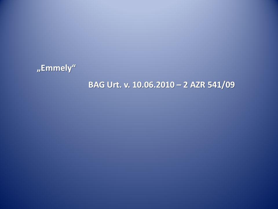 """""""Emmely BAG Urt. v. 10.06.2010 – 2 AZR 541/09"""