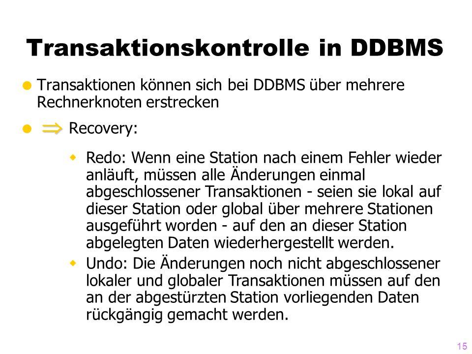 Transaktionskontrolle in DDBMS