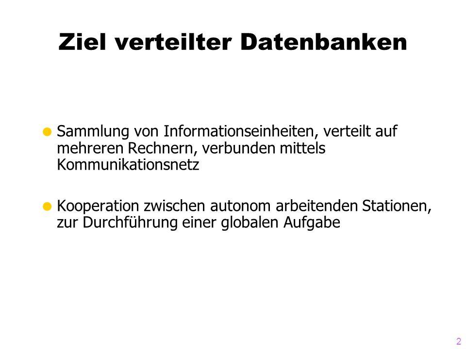 Ziel verteilter Datenbanken