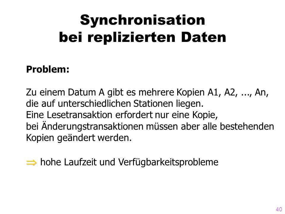 Synchronisation bei replizierten Daten