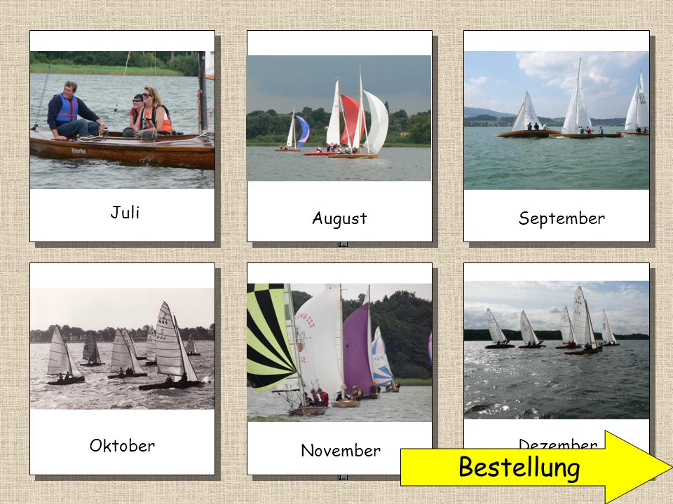 Juli August September Oktober Bestellung Dezember November