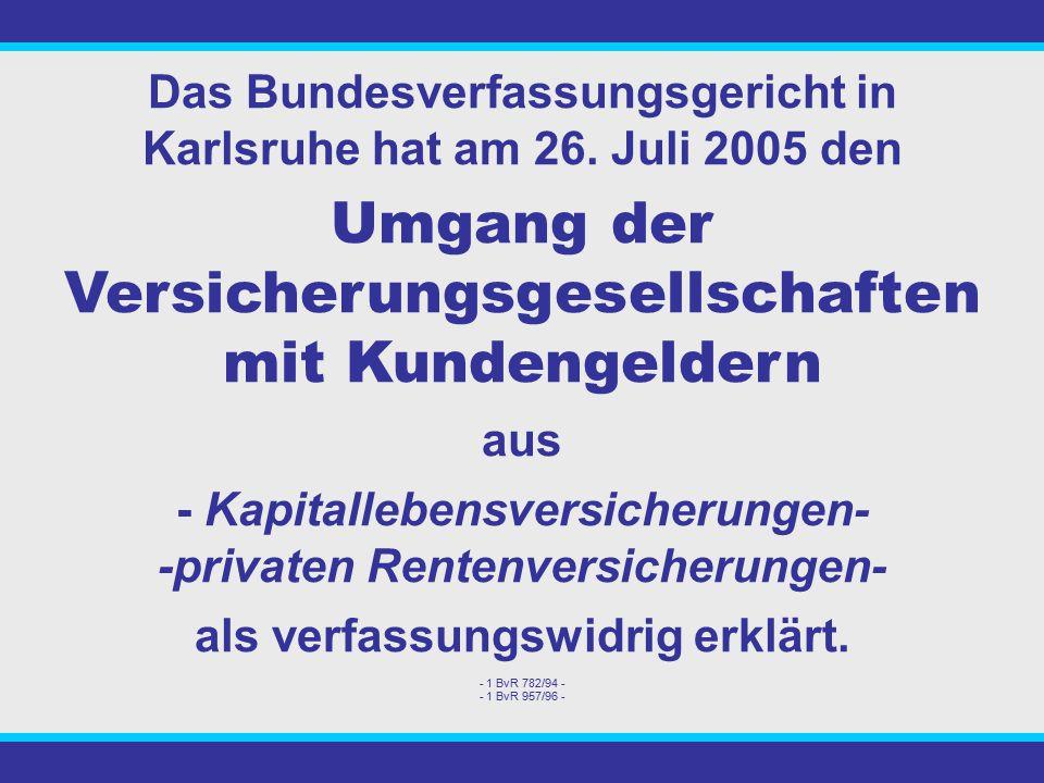 Das Bundesverfassungsgericht in Karlsruhe hat am 26