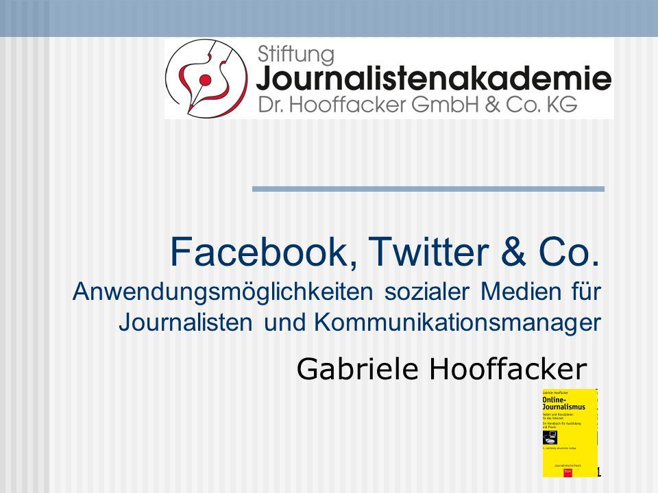 Facebook, Twitter & Co. Anwendungsmöglichkeiten sozialer Medien für Journalisten und Kommunikationsmanager