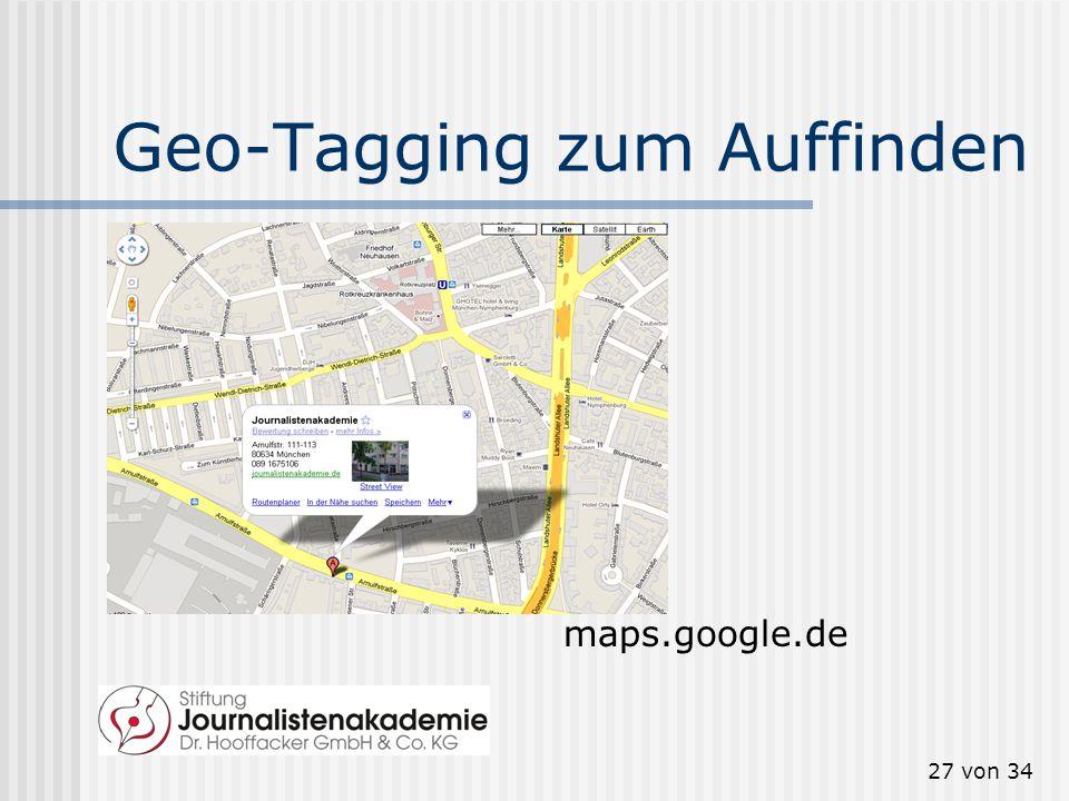 Geo-Tagging zum Auffinden