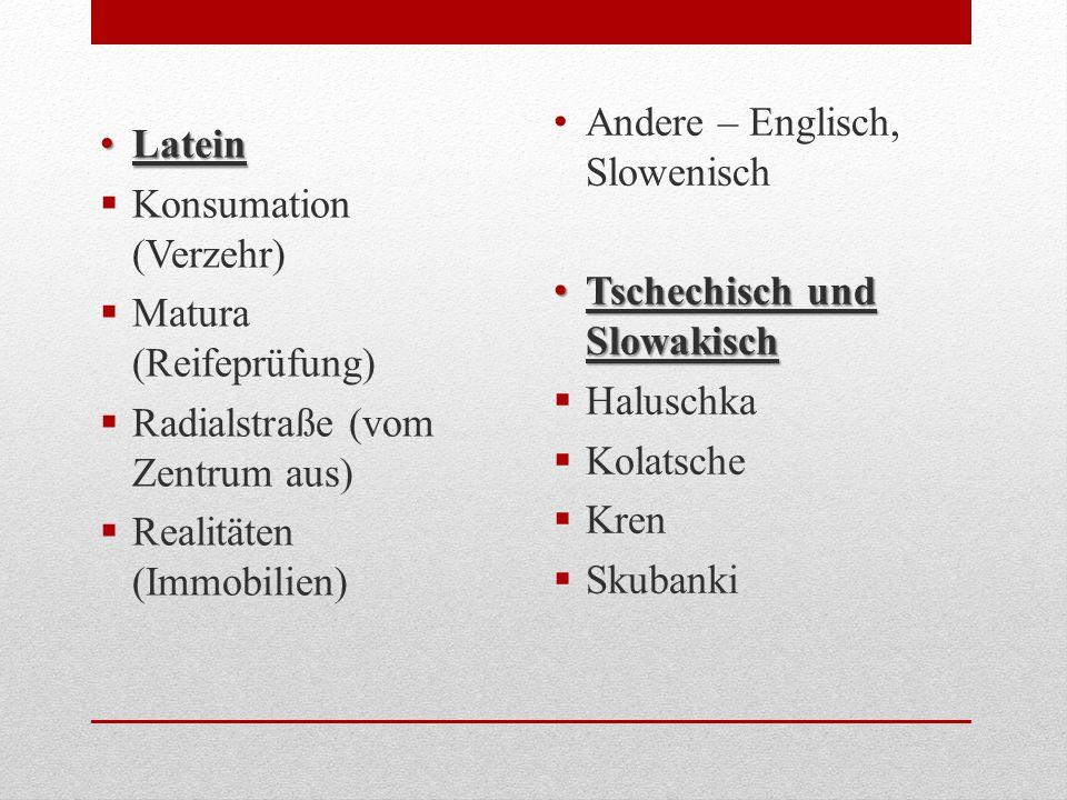 Andere – Englisch, Slowenisch