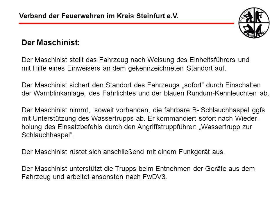 Der Maschinist: Verband der Feuerwehren im Kreis Steinfurt e.V.