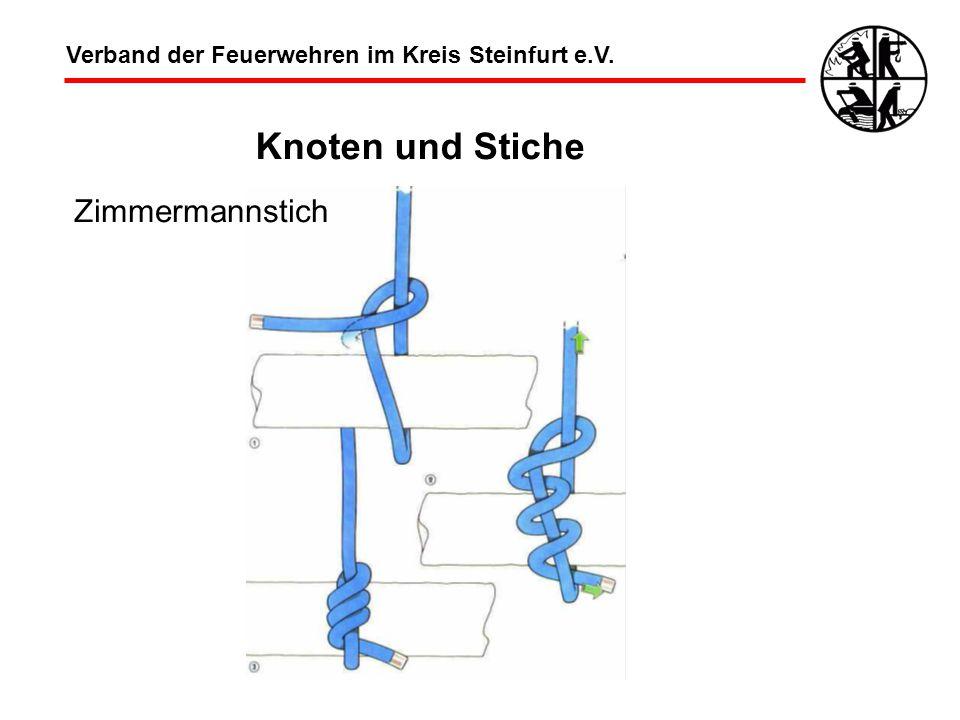 Knoten und Stiche Zimmermannstich