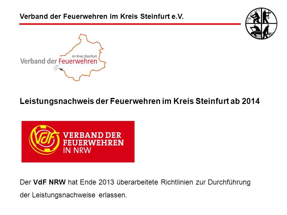 Leistungsnachweis der Feuerwehren im Kreis Steinfurt ab 2014