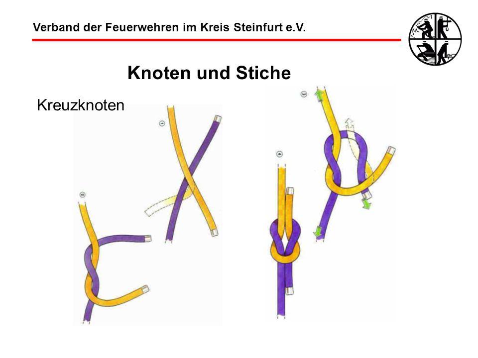 Knoten und Stiche Kreuzknoten