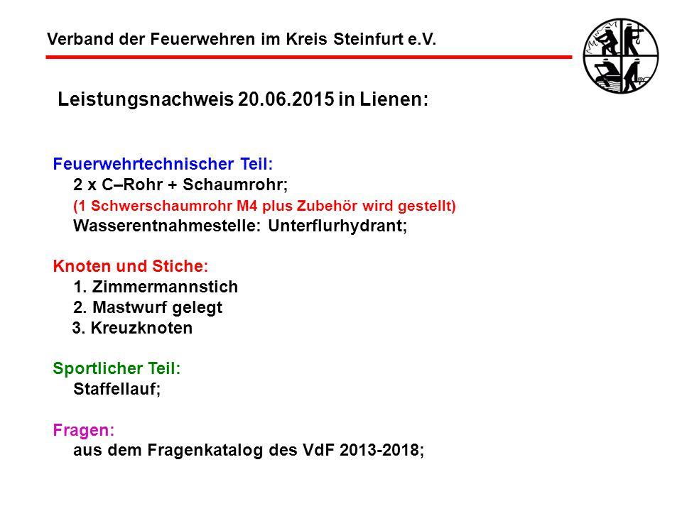 Leistungsnachweis 20.06.2015 in Lienen:
