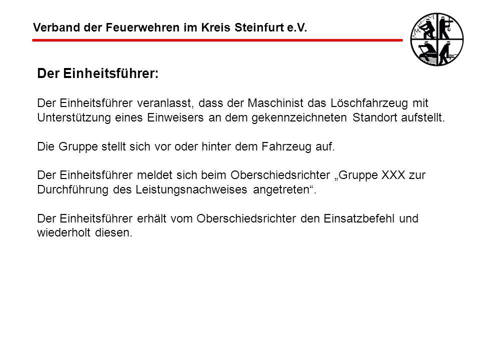 Der Einheitsführer: Verband der Feuerwehren im Kreis Steinfurt e.V.