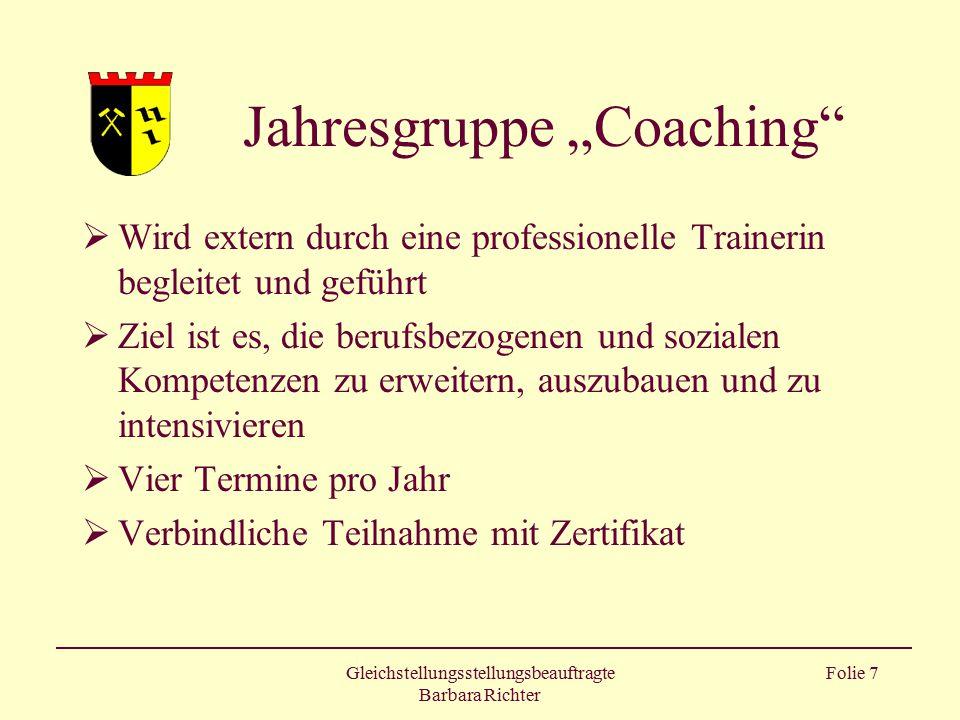 "Jahresgruppe ""Coaching"
