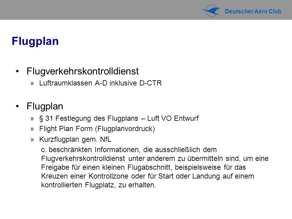 Flugplan Flugverkehrskontrolldienst Flugplan