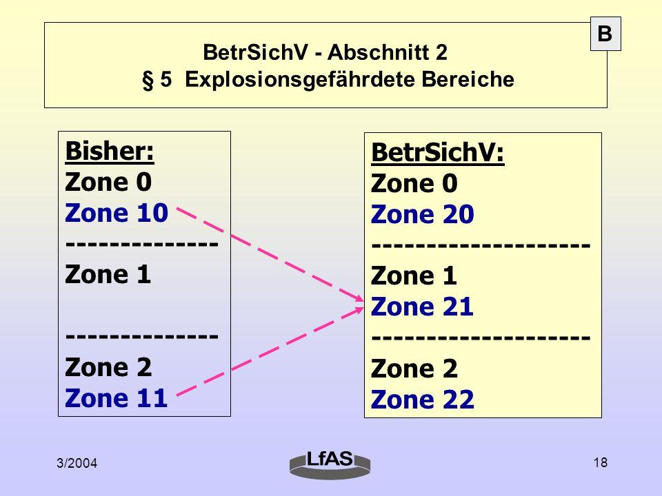BetrSichV - Abschnitt 2 § 5 Explosionsgefährdete Bereiche
