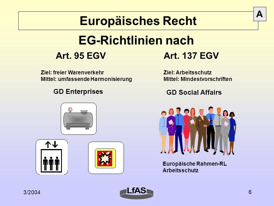 Europäisches Recht EG-Richtlinien nach