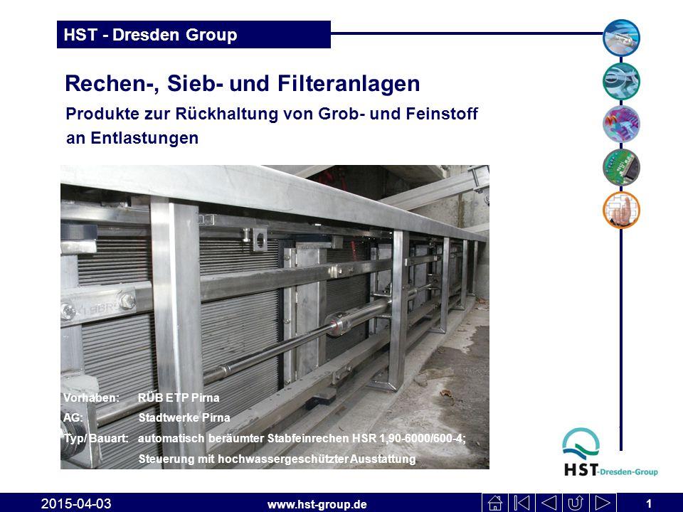 Rechen-, Sieb- und Filteranlagen