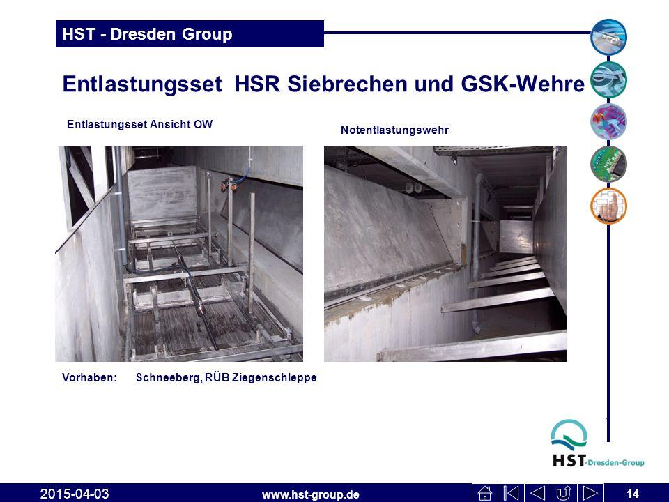 Entlastungsset HSR Siebrechen und GSK-Wehre