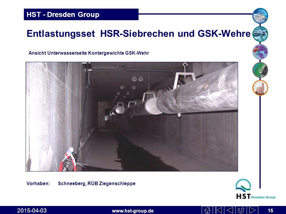 Entlastungsset HSR-Siebrechen und GSK-Wehre