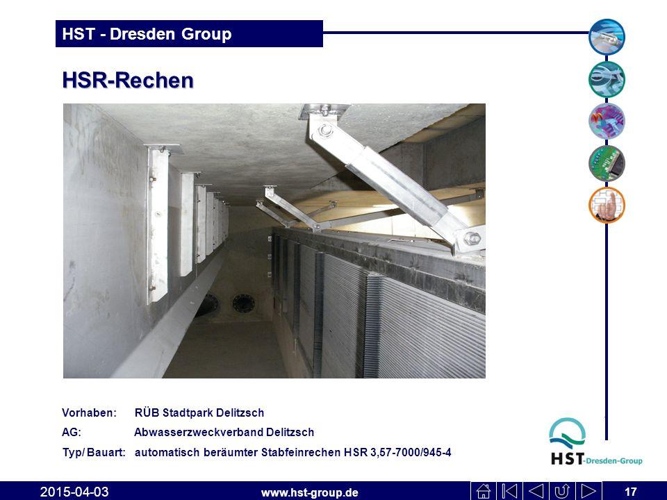HSR-Rechen 2017-04-10 Vorhaben: RÜB Stadtpark Delitzsch