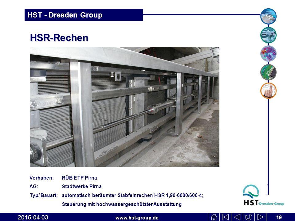 HSR-Rechen 2017-04-10 Vorhaben: RÜB ETP Pirna AG: Stadtwerke Pirna