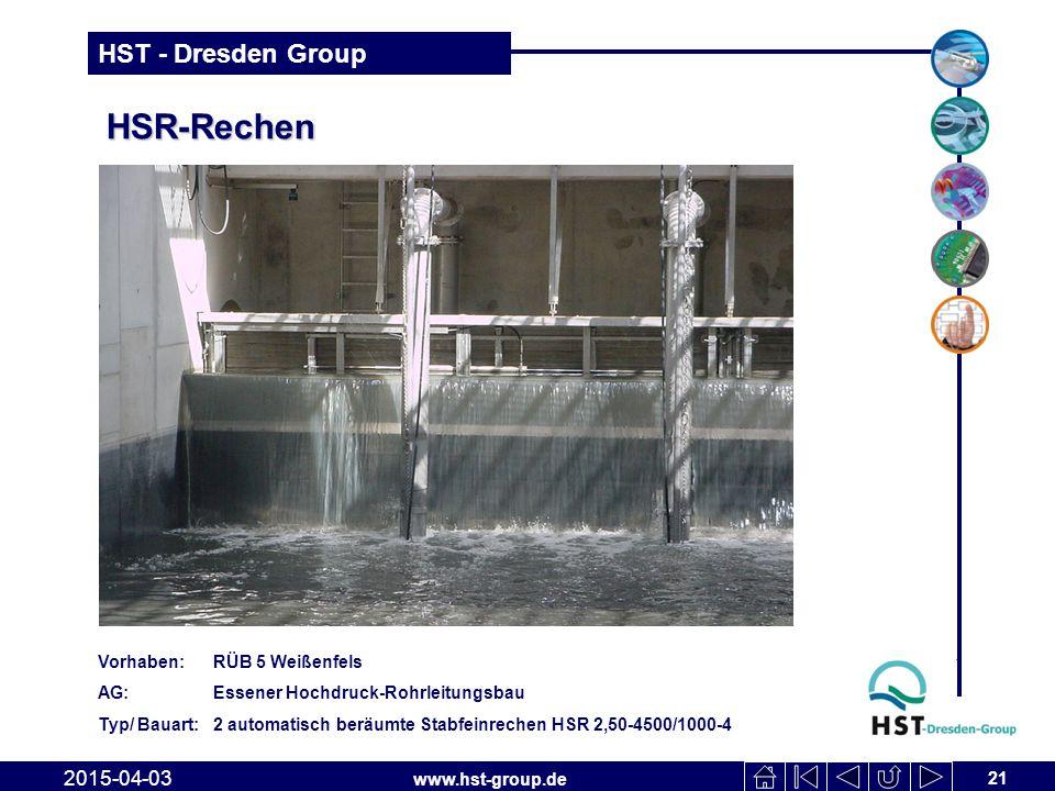 HSR-Rechen 2017-04-10 Vorhaben: RÜB 5 Weißenfels