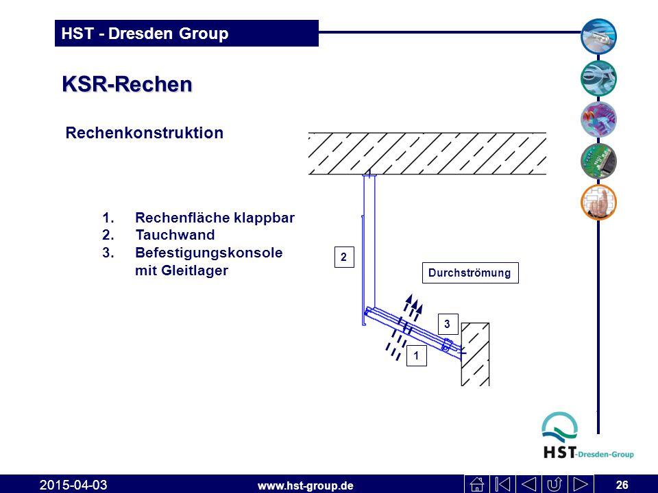 KSR-Rechen Rechenkonstruktion Rechenfläche klappbar Tauchwand