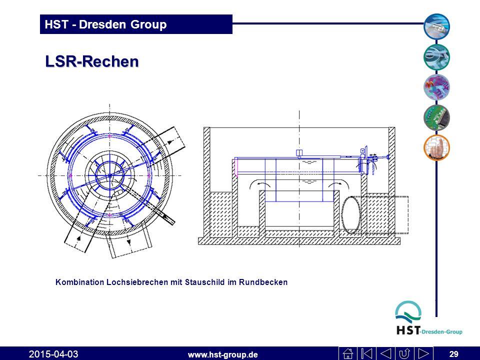 LSR-Rechen Kombination Lochsiebrechen mit Stauschild im Rundbecken 2017-04-10