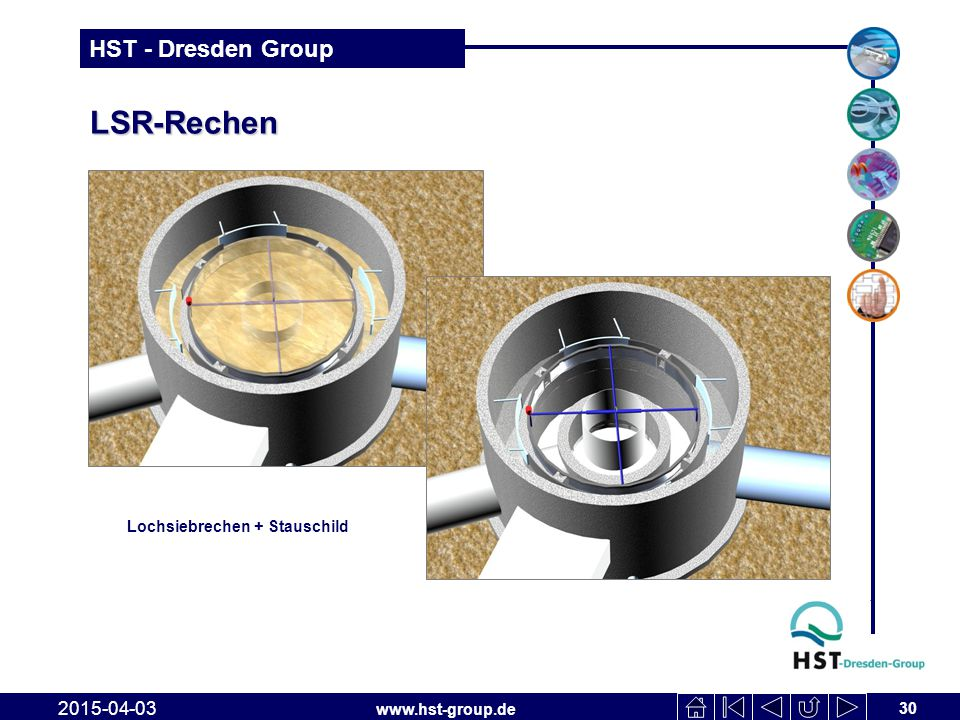 LSR-Rechen Lochsiebrechen + Stauschild 2017-04-10