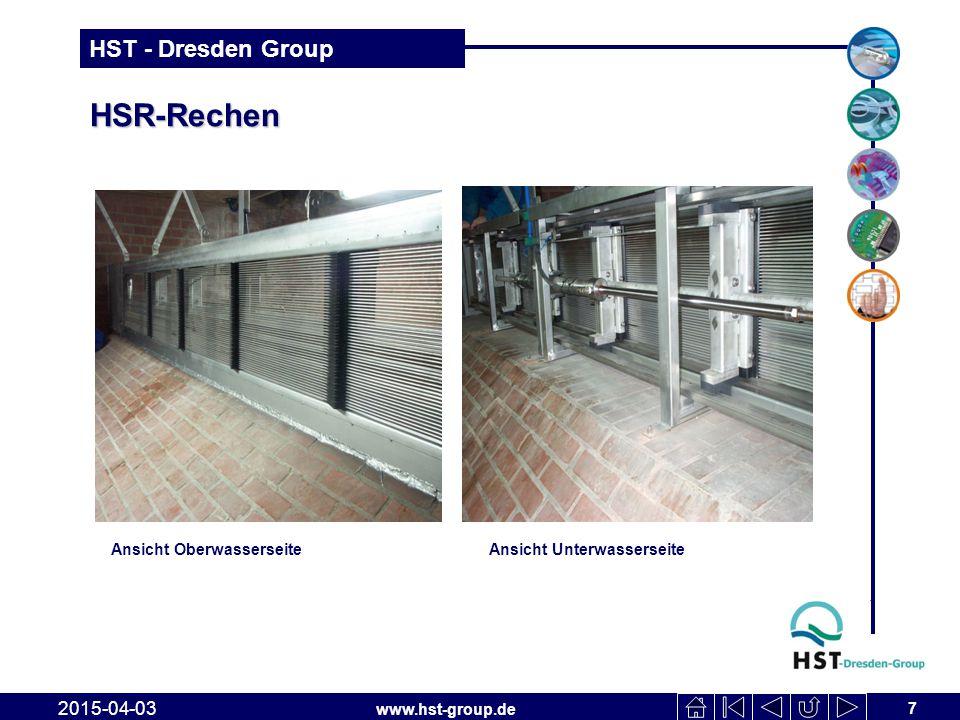 HSR-Rechen Ansicht Oberwasserseite Ansicht Unterwasserseite 2017-04-10