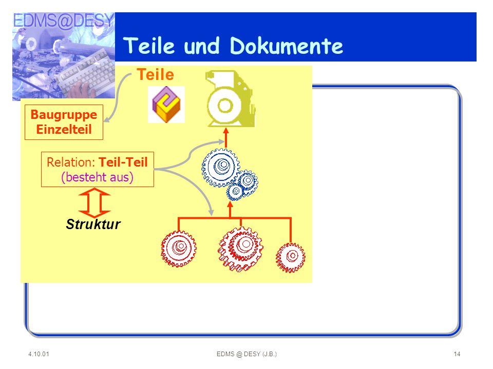 Teile und Dokumente Teile Struktur Baugruppe Einzelteil