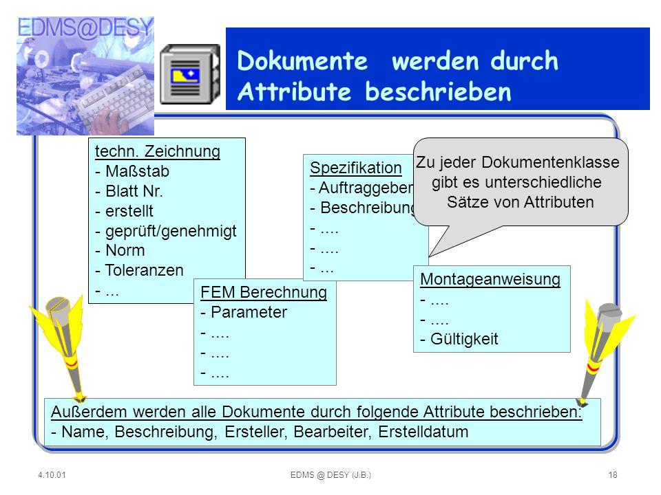 Dokumente werden durch Attribute beschrieben
