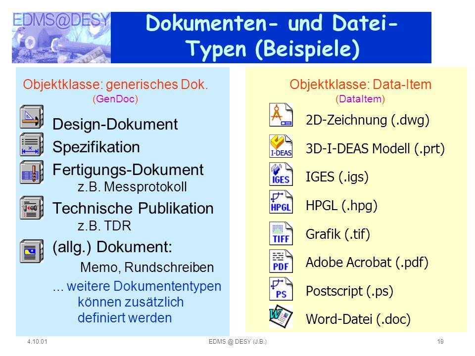Dokumenten- und Datei-Typen (Beispiele)