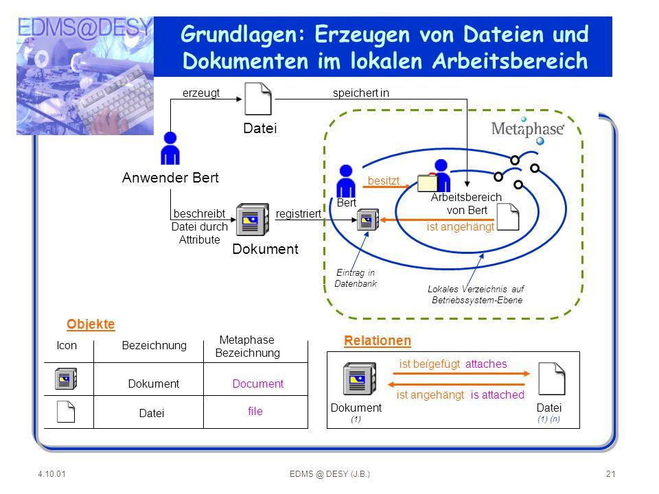 Grundlagen: Erzeugen von Dateien und Dokumenten im lokalen Arbeitsbereich