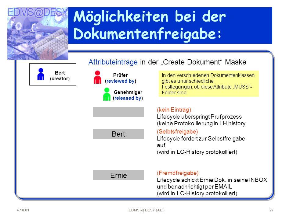 Möglichkeiten bei der Dokumentenfreigabe: