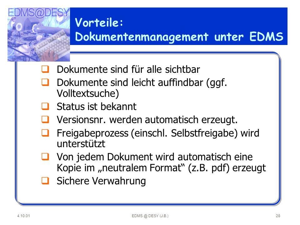 Vorteile: Dokumentenmanagement unter EDMS