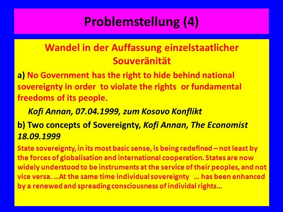 Wandel in der Auffassung einzelstaatlicher Souveränität
