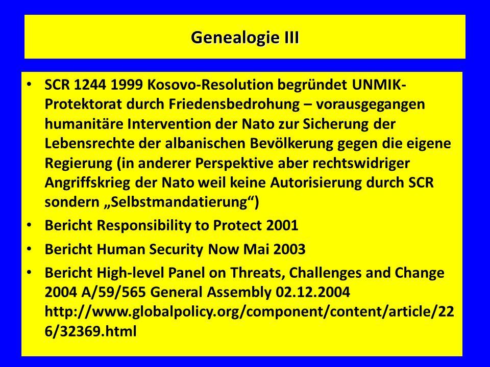 Genealogie III